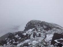 冠雪至仏山頂
