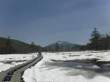 残雪の尾瀬ヶ原