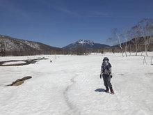 雪の尾瀬ヶ原